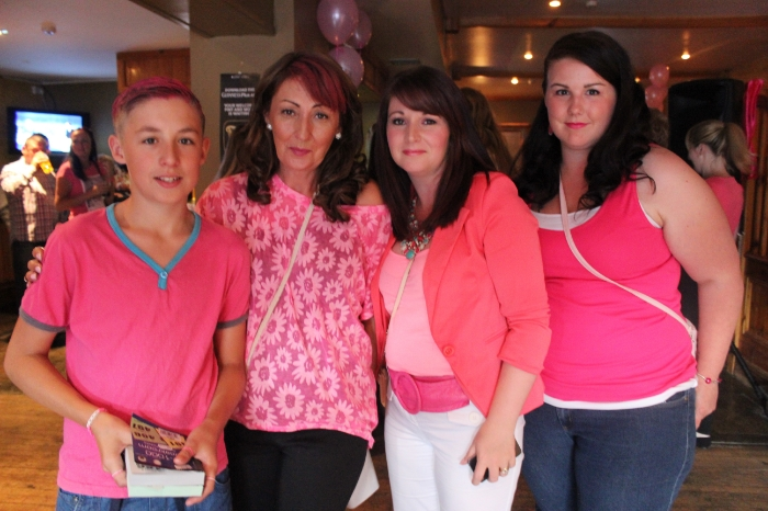 At the Breast Cancer fundraiser in McElligott's Bar, Ardfert on Friday night were, from left; David Fitzgerald, Anne Fitzgerald, Tanya McGowen, Fiona Murphy. Photo by Gavin O'Connor.