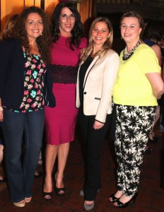 Olga Enright, Tralee, Angela Fitzgerald, Tralee, Joanne McGrath, Tralee, Maureann Keenan, Tralee at the Balloonagh Class of 1994 reunion on Saturday night. Photo by Danielle Courtney