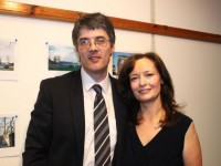 At the history of Ballymullen book launch at the library were the author Robert Tangney and his wife Evelyn Tangney.