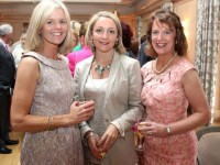 Susan Walsh, Tralee, Lisa Geaney, Castleisland and Cathy O'Connor, Tralee, at the Kerry Cancer Support Group Big Bus Barbecue at the Ballygarry House Hotel on Sunday night. Photo by Dermot Crean