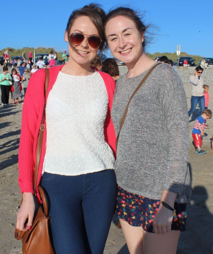Fiona Madden and Lisa McCarthy, Tralee, at the Celebration of Light event in aid of Recovery Haven at Banna Beach on Friday evening. Photo by Dermot Crean