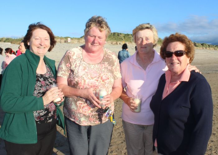 Esther Leen, Margaret Sheehan, Sheila Hanafin and Peg Kelly, Kilflynn, at the Celebration of Light event in aid of Recovery Haven at Banna Beach on Friday evening. Photo by Dermot Crean