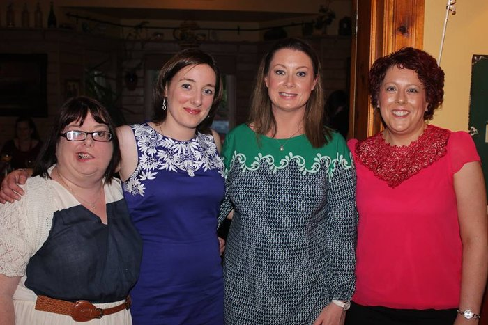Elena Courtney, Castleisland, Fiona Kenny, Kilkenny, Laura Ryan, Athlone and Imelda O'Brien, Tralee, at the Balloonagh Class of 1994 reunion at Stoker's Lodge. Photo by Danielle Courtney