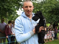 Kieran Donaghy with his Kerry Blue Terrier, Bailey, who won the Cutest Puppy and Best Puppy categories in the Féile na mBláth Dog Show on Saturday in the Town Park. Photo by Dermot Crean