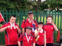 The five members of Tralee Stars Special Olympics team with their medals. Photo by Danielle Courtney
