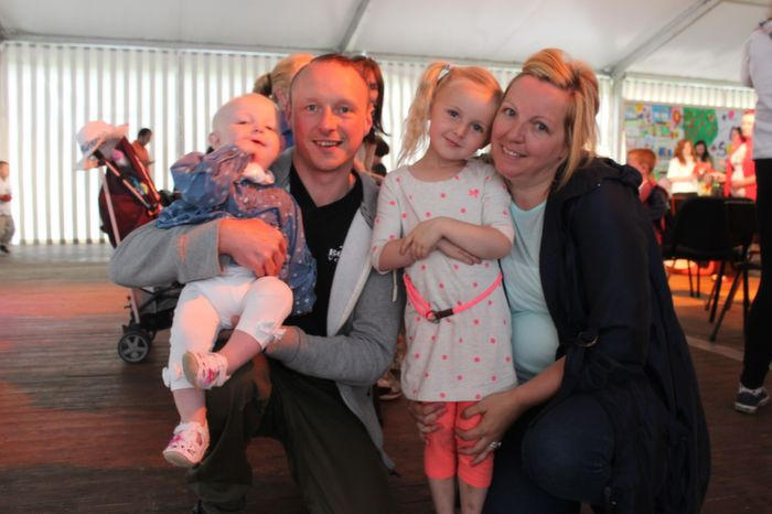 Danny, Claire, Mia and Taylor Kate Leane enjoying the Teddy Bears Picnic at Féile na mBláth on Friday morning in the Town Park. Photo by Dermot Crean