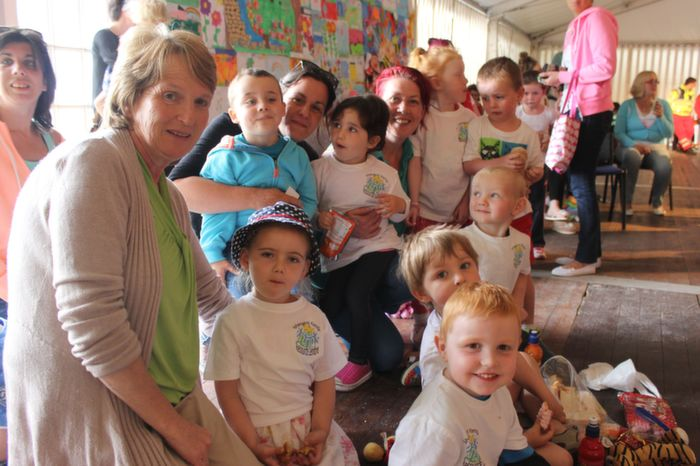 Children from Shanakill Resource Centre Pre-school enjoying the Teddy Bears Picnic at Féile na mBláth on Friday morning in the Town Park. Photo by Dermot Crean