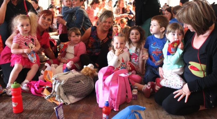 Cumann Iosaef Pre-School children and minders enjoying the Teddy Bears Picnic at Féile na mBláth on Friday morning in the Town Park. Photo by Dermot Crean