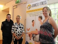 At the Advanced Fitness Education open evening in the Ballyroe Heights Hotel on Thursday night were Jed McNamara (tutor), Siobhan Sentre (Course Director) and Melissa Ross (tutor). Photo by Dermot Crean