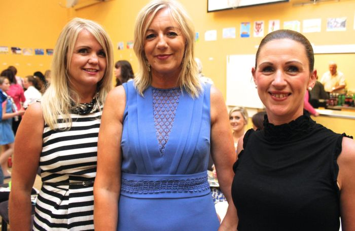 Cecelia Casey, Norma Dunne and Mary Dunne, Ballyheigue, at the Ballyheigue Fashion Show in the Community Centre on Wednesday night. Photo by Dermot Crean