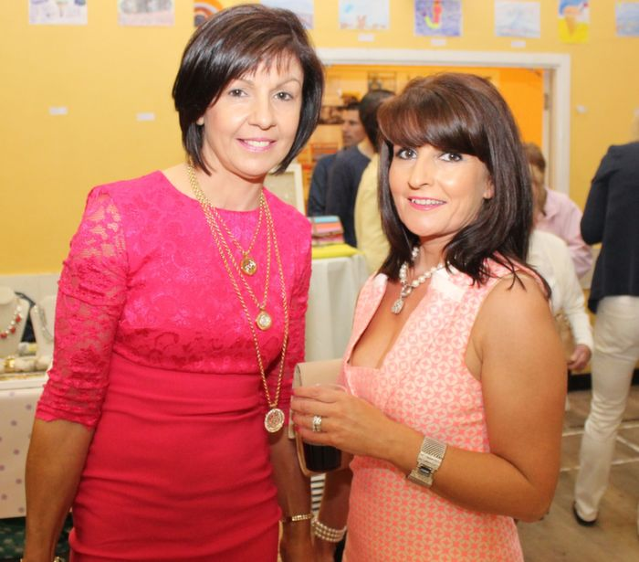 Patricia O'Grady, Ballyduff and Kay O'Halloran, Ballyheigue, at the Ballyheigue Fashion Show in the Community Centre on Wednesday night. Photo by Dermot Crean
