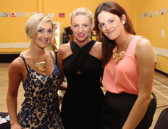 Jackie O'Carroll, Karen Leahy and Grace Leahy, Causeway, at the Ballyheigue Fashion Show in the Community Centre on Wednesday night. Photo by Dermot Crean