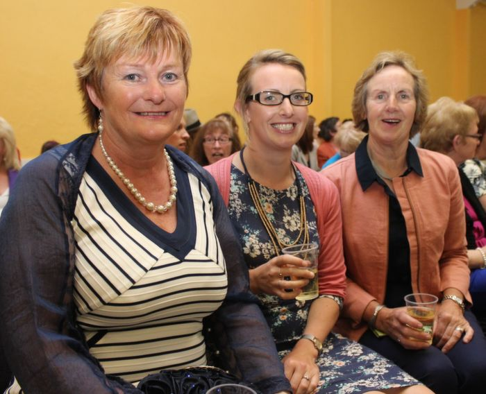 Breda O'Connor, Castleisland Mary Brick and Margaret Brick, Kilmoyley, at the Ballyheigue Fashion Show in the Community Centre on Wednesday night. Photo by Dermot Crean