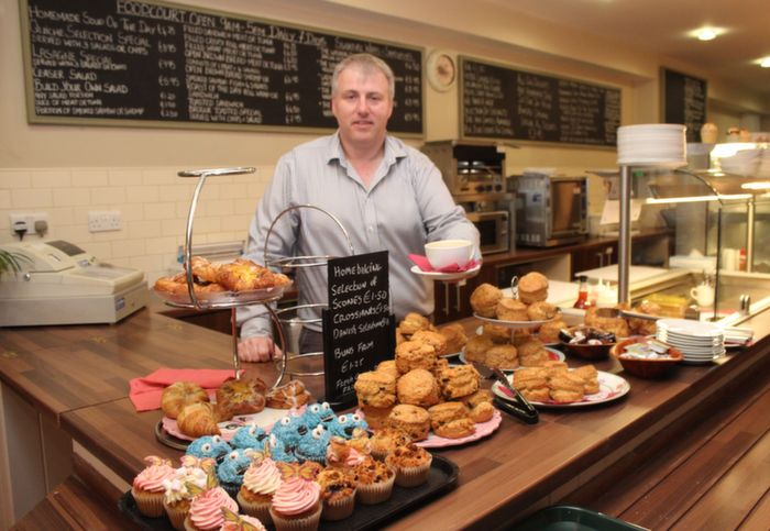 Kevin Cotter serving up some tasty goodies in the cafe part of Kirby's Brogue Inn on Thursday morning. Photo by Dermot Crean