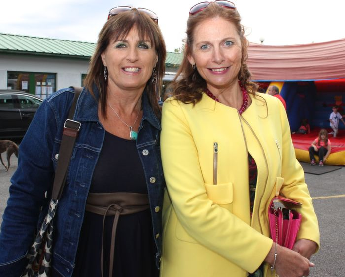 Eva Walsh and Bernie O'Regan at the Friends of Kerry General Hospital Gala Benefit Night at Kingdom Greyhound Stadium on Friday. Photo by Dermot Crean