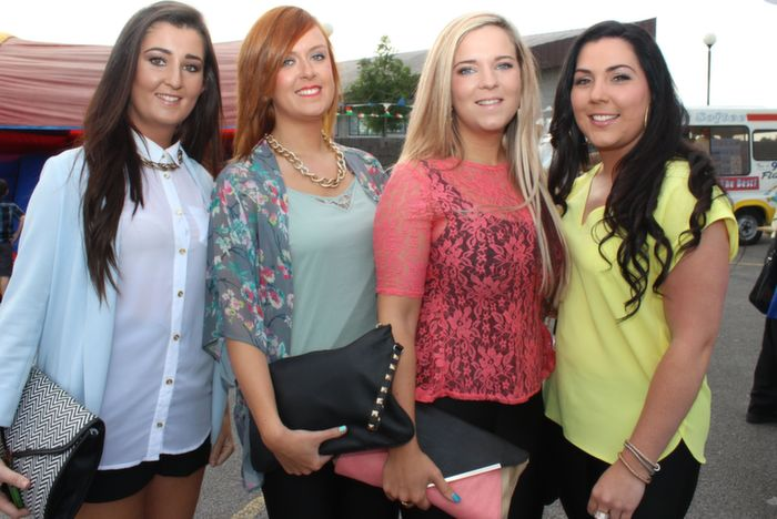 Nicola Hanlon, Kirsty O'Dowd, Teresa Leen and Megan Kelliher at the Friends of Kerry General Hospital Gala Benefit Night at Kingdom Greyhound Stadium on Friday. Photo by Dermot Crean