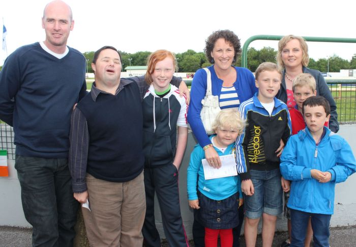 David, Jimmy, Ciara, Catriona and Ashling Moore with, in front right, Hannah Costello, Conor Costello, Jack Costello and Ben Moore at the Friends of Kerry General Hospital Gala Benefit Night at Kingdom Greyhound Stadium on Friday. Photo by Dermot Crean