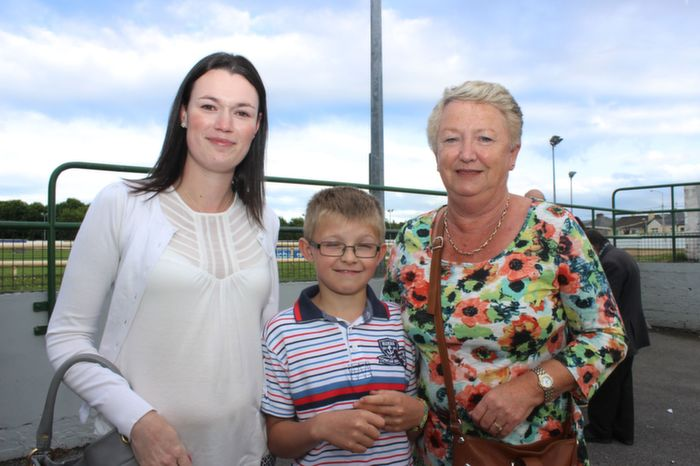 Sinead Lyons, Carlow, Nathan Lyons, Castleisland and Marian Lyons, Tralee, at the Friends of Kerry General Hospital Gala Benefit Night at Kingdom Greyhound Stadium on Friday. Photo by Dermot Crean