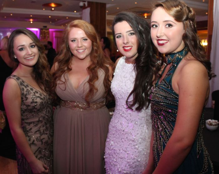 Kelly Field, Emma Murray, Clodagh Moriarty and Niamh Hurley at Oliver Hurley's 50th birthday celebrations at the Fels Point Hotel on Friday night. Photo by Dermot Crean
