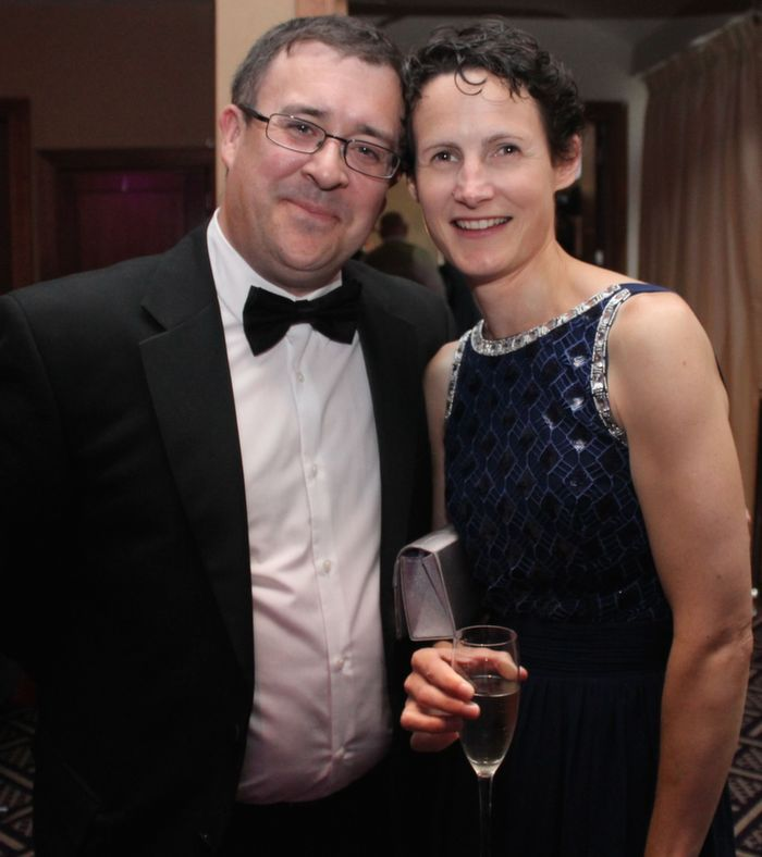 John and Anne Marie Drummey at Oliver Hurley's 50th birthday celebrations at the Fels Point Hotel on Friday night. Photo by Dermot Crean