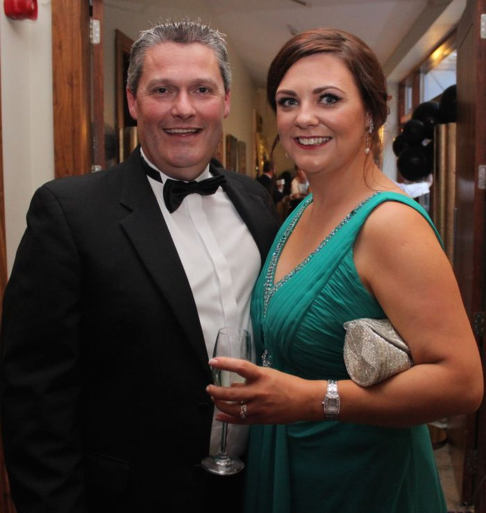 Des and Gemma Hurley at Oliver Hurley's 50th birthday celebrations at the Fels Point Hotel on Friday night. Photo by Dermot Crean