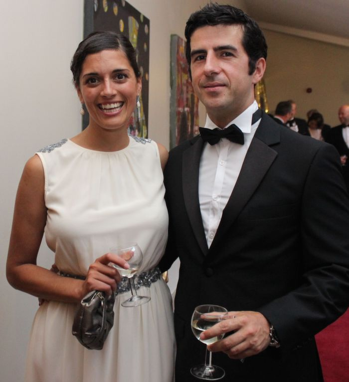 The 2010 Rose of Tralee, Clare Kambamettu and Sean Laffey at Oliver Hurley's 50th birthday celebrations at the Fels Point Hotel on Friday night. Photo by Dermot Crean