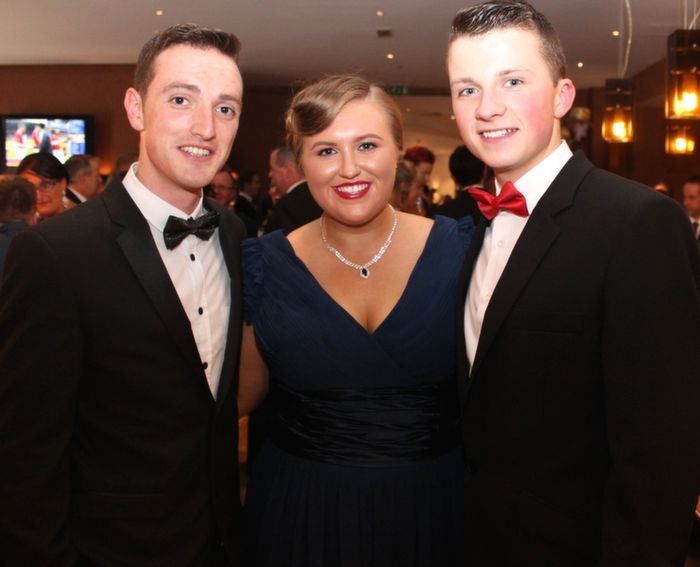 John Fitzgerald, Cliodhna Hurley and Sean Hanafin at Oliver Hurley's 50th birthday celebrations at the Fels Point Hotel on Friday night. Photo by Dermot Crean