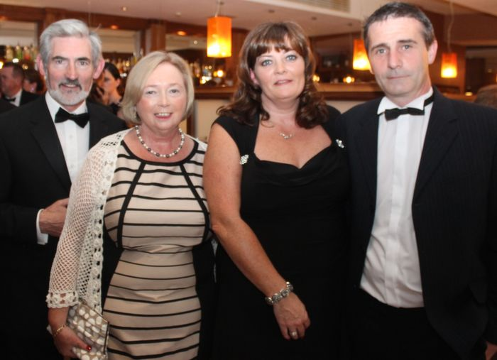 Neilus Colgan, Mary Colgan, Martina Colgan and Maurice Breen at Oliver Hurley's 50th birthday celebrations at the Fels Point Hotel on Friday night. Photo by Dermot Crean