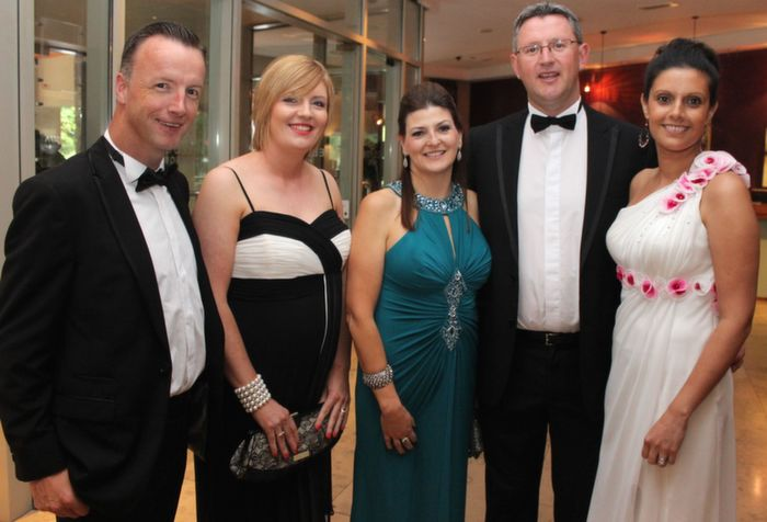 Matthew and Shirley Moloney with Clare and Benny Murphy and Alannah Chute at Oliver Hurley's 50th birthday celebrations at the Fels Point Hotel on Friday night. Photo by Dermot Crean