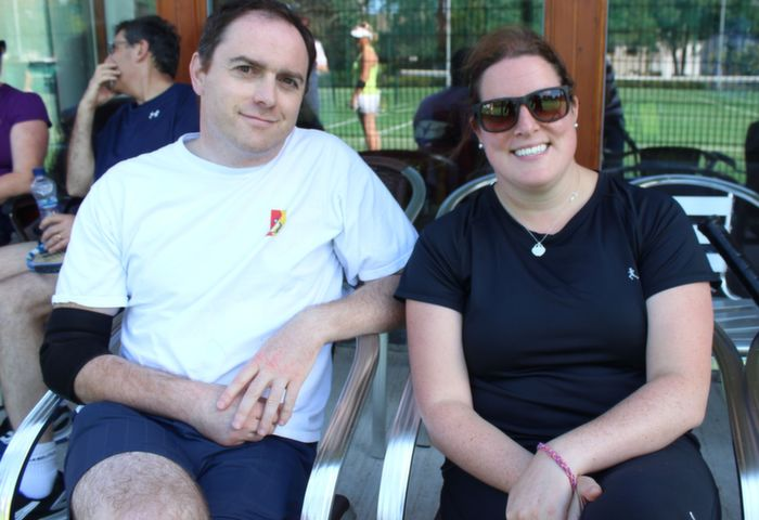 Ray Moroney and Ciara Daly  at the Tralee Tennis Club's annual barbecue on Saturday afternoon. Photo by Dermot Crean