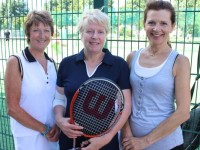 Anne O'Donoghue, Jean Hollywood, Dolores O'Callaghan at the Tralee Tennis Club's annual barbecue on Saturday afternoon. Photo by Dermot Crean
