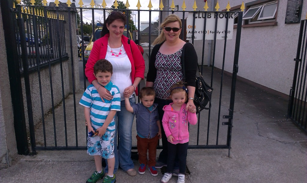 At the 'The Trevor Barrett Memorial Hurling Tournament' were, from left: Margaret Sweeney, Lisa Hanley and kids TJ Daly, Ryan Daly and Eva Hanley. Photo by Gavin O'Connor.