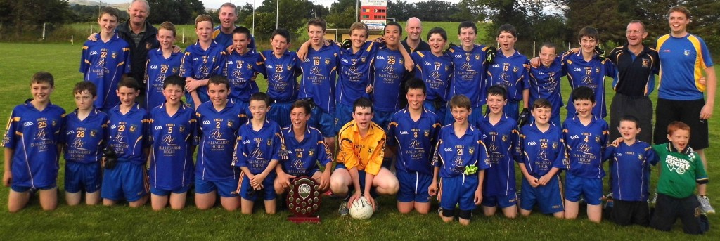 Ballymac U14 team with the Central Region Div 3 Trophy which they won after defeating Ardfert last Monday 4th Aug in the final played at Ballymac Pitch on a scorline of 2 07 to 0 06. Ballymac's Josh O Keeffe also picked up the Man of the Match award.