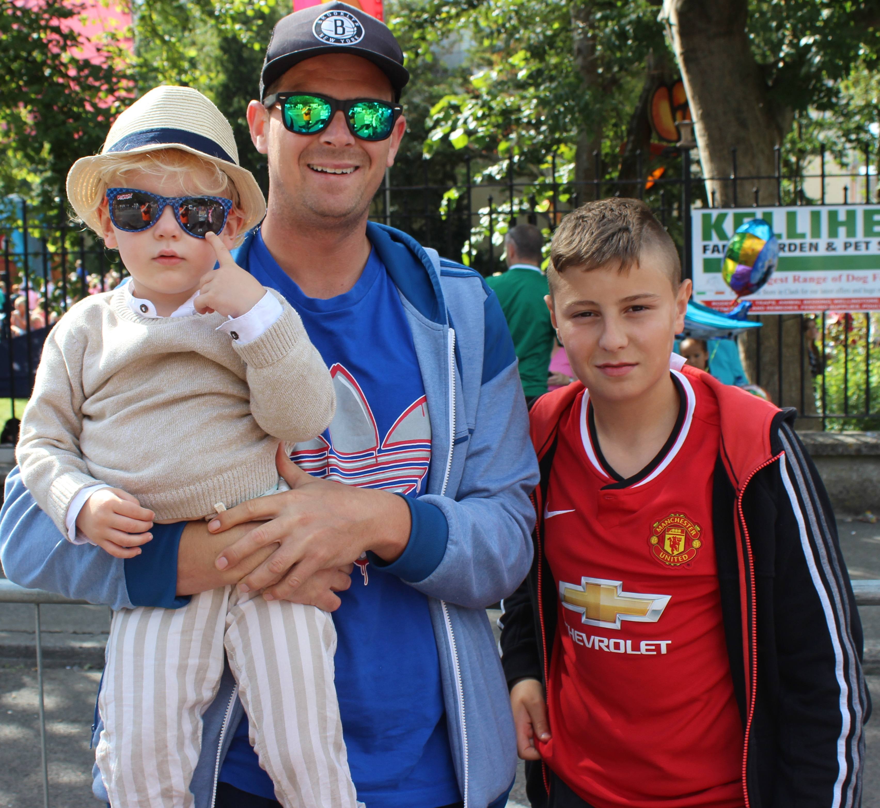 Viewing the Airshow from Denny Street on Sunday were, from left: Noah Flood, Liam O'Dowd and Brian O'Dowd. Photo by Gavin O'Connor