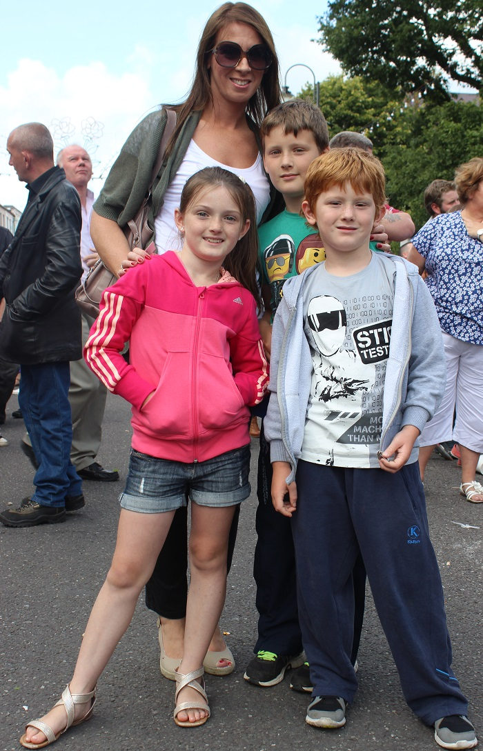 Viewing the Airshow from Denny Street on Sunday were, in front: Eva O'Connor, Oisin O'Connor and back: Helen O'Connor and Tadhg O'Connor. Photo by Gavin O'Connor
