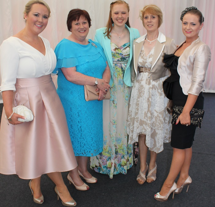 At the Rose Fashion show were, from left: Catriona Sayers, Noreen Sayers, Patricia Sayers, Kitty Sayers, Margaret Trant. Photo by Gavin O'Connor.