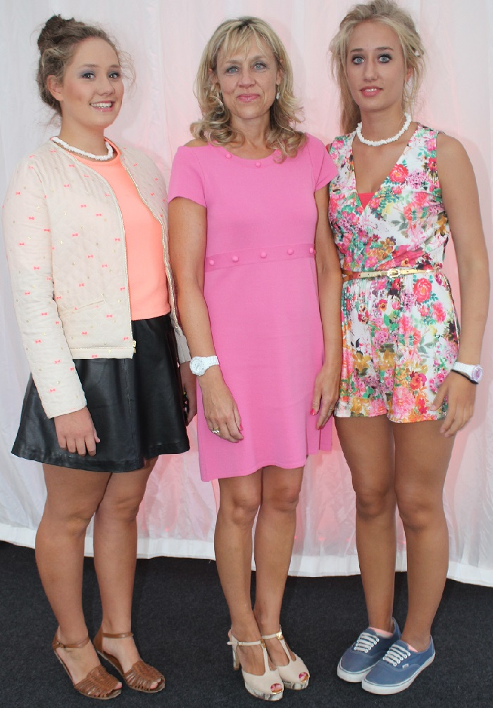 At the Rose Fashion show were, from left: Eva Collins, Maire Collins and Tessa Collins. Photo by Gavin O'Connor.