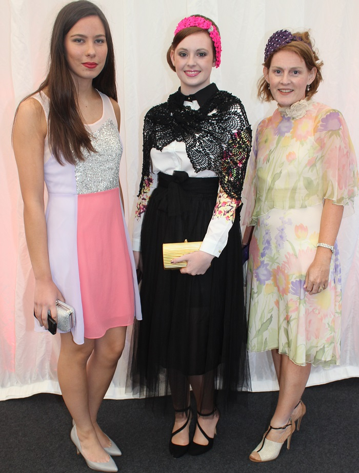 At the Rose Fashion show were, from left: Aina O'Connor, Aisling McDade and Anne Marie Mitchell. Photo by Gavin O'Connor.