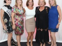 At the Rose Fashion show were, from left: Haley O'Sullivan, Jean O'Callaghan, Lyndsey O'Sullivan, Mary Devlin and Sara Devlin. Photo by Gavin O'Connor.