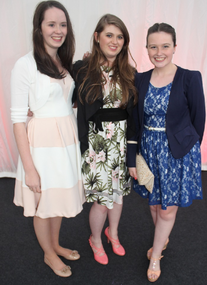 At the Rose Fashion show were, from left: Muireann O'Mahony, Rachel Buckley and Mairead Fitzmaurice. Photo by Gavin O'Connor.