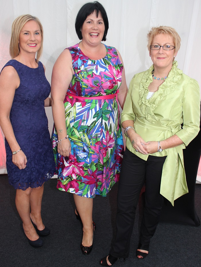 At the Rose Fashion show were, from left: Noreen Buckley, Anne Marie O'Leary and Maura O'Sullivan. Photo by Gavin O'Connor.