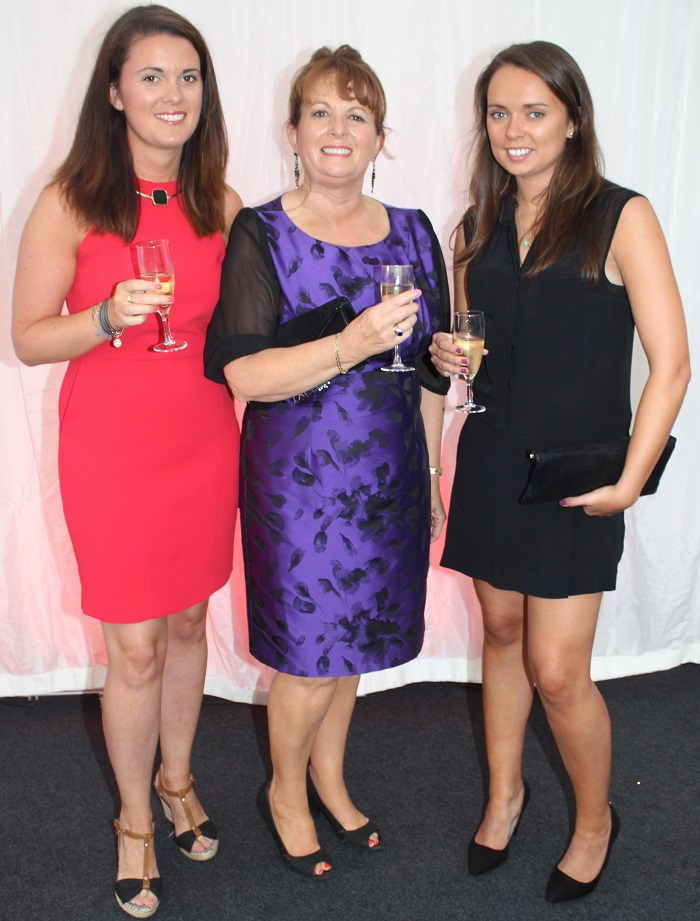 At the Rose Fashion show were, from left: Sinead Moriarty, Mairead Moriarty and Emer Carroll. Photo by Gavin O'Connor.