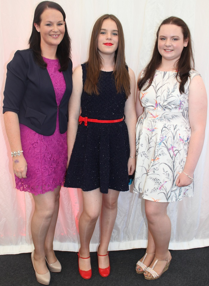 At the Rose Fashion show were, from left: Tara Hanlon, Aoife Murphy and Andrea Dylan. Photo by Gavin O'Connor.