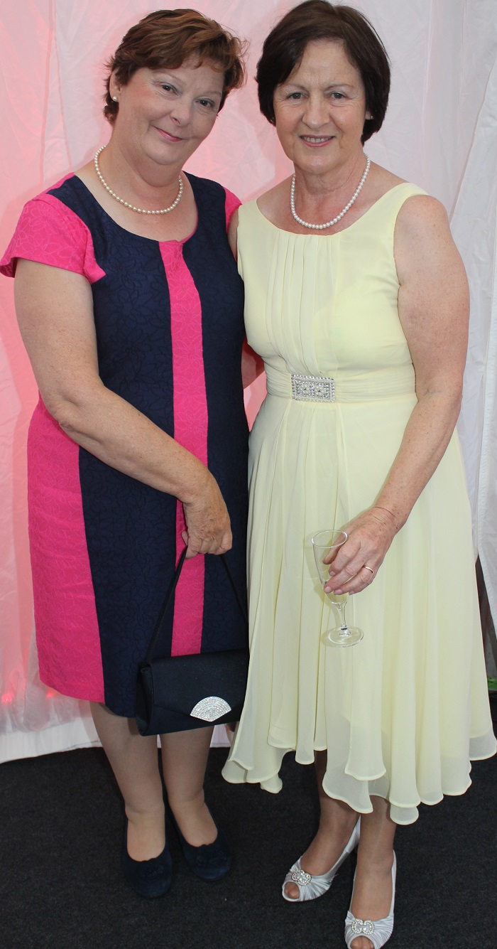 At the Rose Fashion show were, from left: Anne Carney and Peggy O'Hallaran. Photo by Gavin O'Connor.