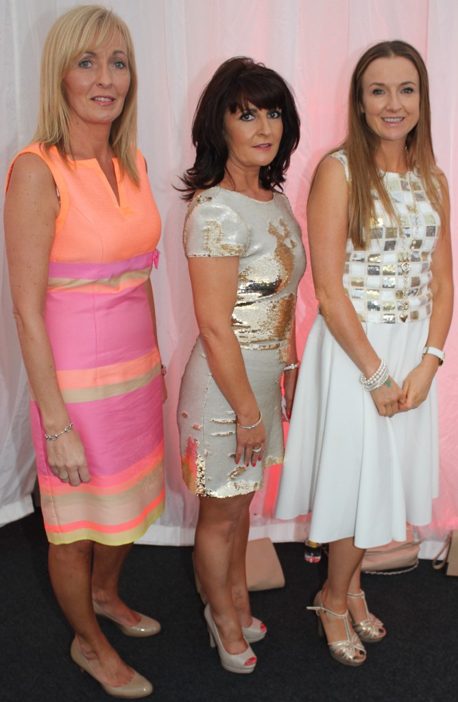 At the Rose Fashion show were, from left: Dawn O'Hara, Kay O'Hallaran, Kathleen Jeffers. Photo by Gavin O'Connor.
