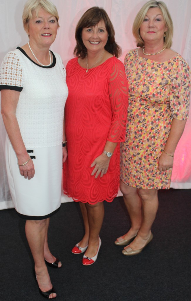 At the Rose Fashion show were, from left: Mari Rolls, Pantsy Power and Catherine Daly. Photo by Gavin O'Connor.