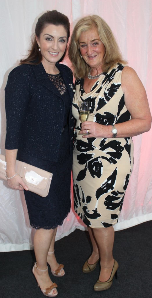 At the Rose Fashion show were, from left: Mari Chawke and Anne Foley. Photo by Gavin O'Connor.