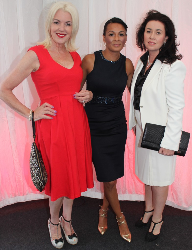 At the Rose Fashion show were, from left: Pat Walker, Tracy Lehane, Marilyn Duffy. Photo by Gavin O'Connor.