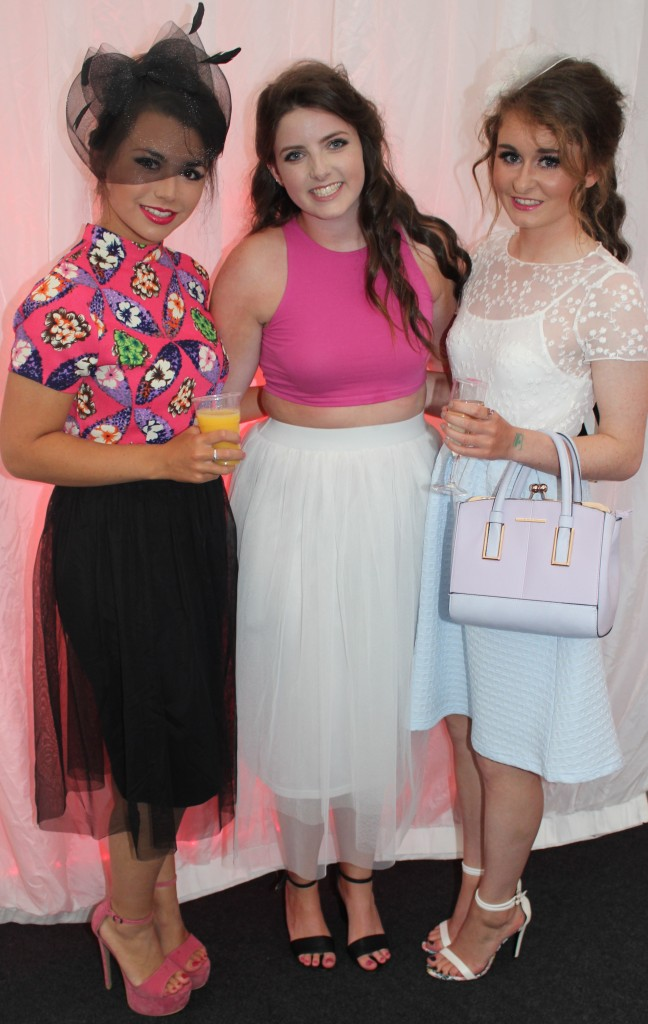 At the Rose Fashion show were, from left: Eily Fokseange, Siona O'Dowd and Siobhan Breen. Photo by Gavin O'Connor.