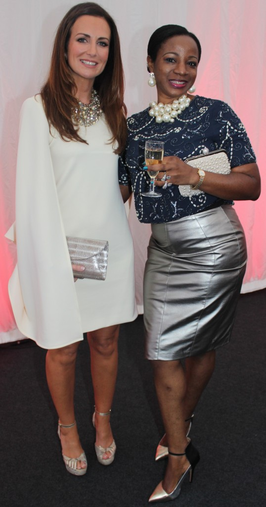At the Rose Fashion show were, from left: Lorraine Keane and Bukona Duyle. Photo by Gavin O'Connor.